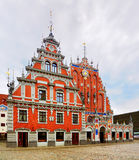 Haus der Blackheads, Riga lizenzfreie stockbilder