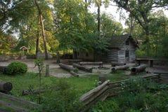 Haus der ersten amerikanischen Siedler Lizenzfreie Stockfotos