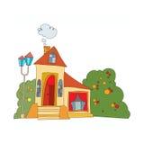 Haus in der Karikaturart Stockbild