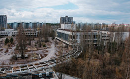 Haus der Kultur Energetik an Tschornobyl-Stadt, Ukraine Abadoned Lizenzfreie Stockfotos