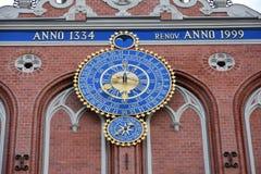 Haus der Mitesser in der alten Stadt von Riga, Lettland lizenzfreies stockbild