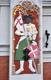 Haus der Mitesser in der alten Stadt von Riga, Lettland lizenzfreie stockfotografie