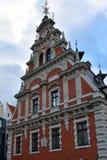 Haus der Mitesser in der alten Stadt von Riga, Lettland lizenzfreie stockfotos