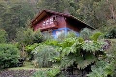 Haus an der Peulla-Stelle, Chile lizenzfreies stockfoto