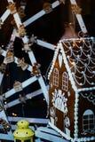 Haus der Plätzchen Weihnachtsdekoration stockbild