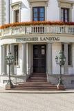 Haus der Politik, das Hessischer Landtag in Wiesbaden Lizenzfreies Stockfoto