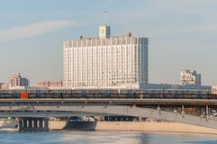 Haus der Regierungs-Russischen Föderation Lizenzfreies Stockfoto