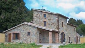 Haus in der Umbrien-Landschaft, Italien Stockbild