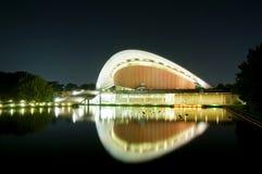 Haus der Weltkulturen in Berlin nachts Lizenzfreies Stockbild