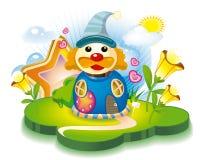 Haus des abstrakten Clowns Lizenzfreies Stockfoto