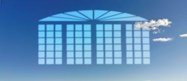 Haus des blauen Himmels Stockfotos