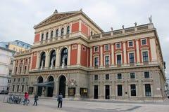 Haus des-frankfurterkorv Musikvereins - konserthall (Wien/Österrike) Arkivfoto
