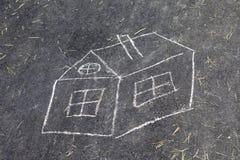 Haus des Kinderabgehobenen betrages Lizenzfreie Stockbilder