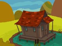 Haus des kleinen Schweins lizenzfreie abbildung