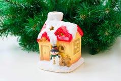 Haus des neuen Jahres lizenzfreies stockbild