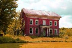 Haus des roten Backsteins Lizenzfreie Stockbilder