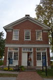 Haus des roten Backsteins in Nauvoo Illinois Lizenzfreies Stockbild