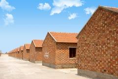 Haus des roten Ziegelsteines Stockbilder