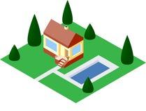 Haus des Vektors 3D Stockbild