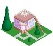 Haus des Vektors 3d Stockbilder