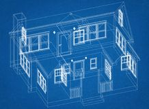Haus-Design-Architekt Blueprint stockfoto