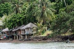 Haus durch das Meer bei Thailand Lizenzfreie Stockbilder