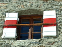 Haus- ein offenes Fenster Lizenzfreie Stockbilder