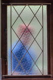 Haus-Einbrecher Intruder Window Bars Lizenzfreie Stockfotos