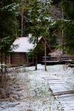 Haus in einem Wald Lizenzfreies Stockfoto