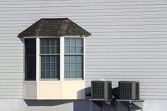 Haus-Erkerfenster stockbild