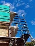Haus-Erneuerung, Baugerüst lizenzfreie stockfotografie