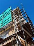 Haus-Erneuerung, Baugerüst stockbilder