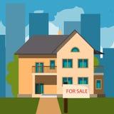 Haus für Verkäufe Lizenzfreies Stockfoto