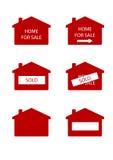 Haus für Verkaufszeichen Lizenzfreie Stockfotos