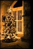 Haus für Weihnachten Stockbild