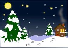 Haus für Weihnachten stock abbildung