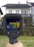 Haus-Fassaden-Infrarotbild Lizenzfreie Stockfotografie