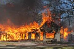 Haus-Feuer Stockfotos