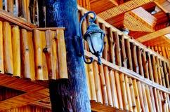 Haus gebaut mit Holz Stockfoto