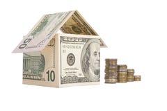 Haus gebildet vom Geld Lizenzfreies Stockfoto