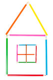 Haus gebildet von den Bleistiften Lizenzfreies Stockbild