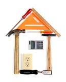 Haus gebildet von den Hilfsmitteln Lizenzfreies Stockbild