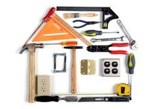 Haus gebildet von den Hilfsmitteln