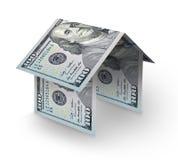 Haus gebildet von den Rechnungen Lizenzfreies Stockbild