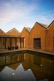 Haus gebildet von den roten Ziegelsteinen Lizenzfreies Stockfoto