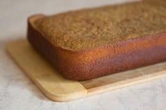 Haus gebildeter Kuchen Lizenzfreies Stockbild