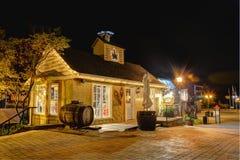 Haus geleuchtet lizenzfreie stockfotografie