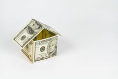 Haus gemacht vom Dollar Lizenzfreies Stockfoto