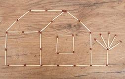 Haus gemacht vom Match Lizenzfreie Stockfotos