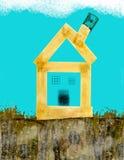Haus gestalten Projekt um Stockbild